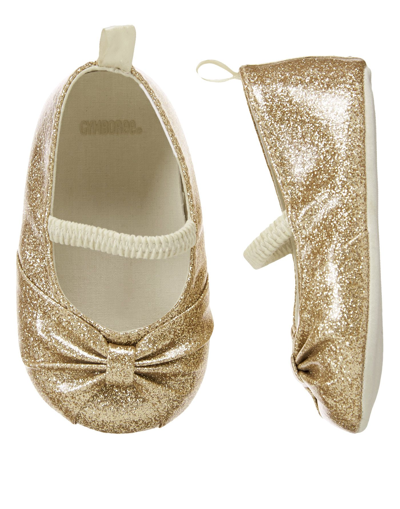 Glittering Gold Crib Shoes at Gymboree if that isn t my future