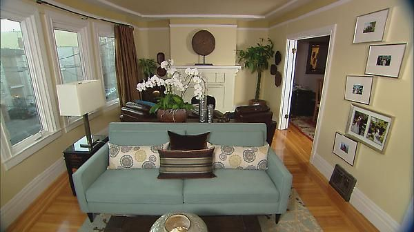 Living Room Design Ideas Long And Narrow suzie: hgtv - find your style - long narrow living space split