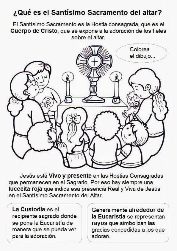 Qué es el Santísimo Sacramento del altar? | Catecismo RPM | Pinterest