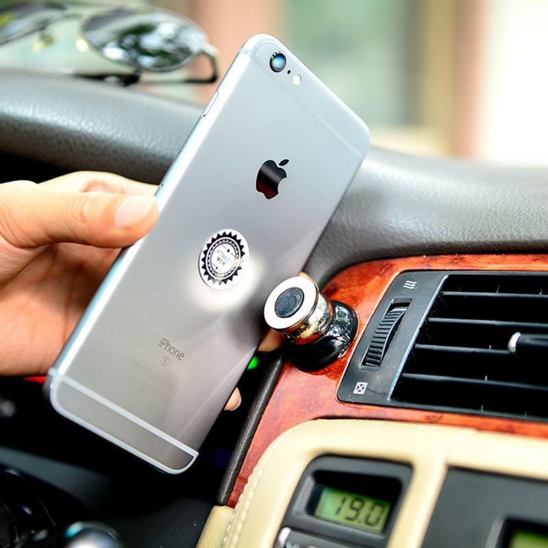 360 Degree Universal Car Phone Holder Magnetic Air Vent Mount Cell ...