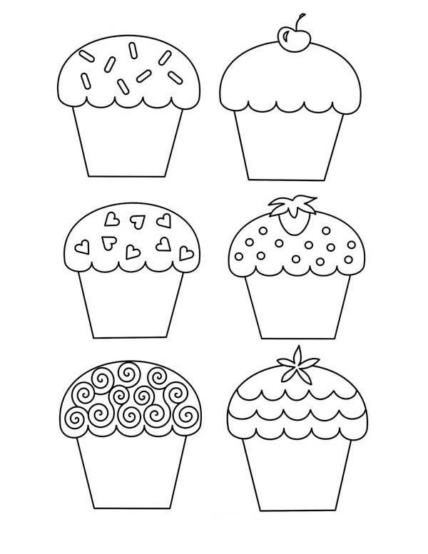 Marvelous Coloring Pages Of Cupcakes