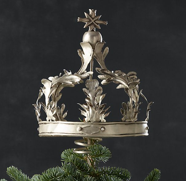 Crown Tree Topper Brass 49 Restoration Hardware Crowned