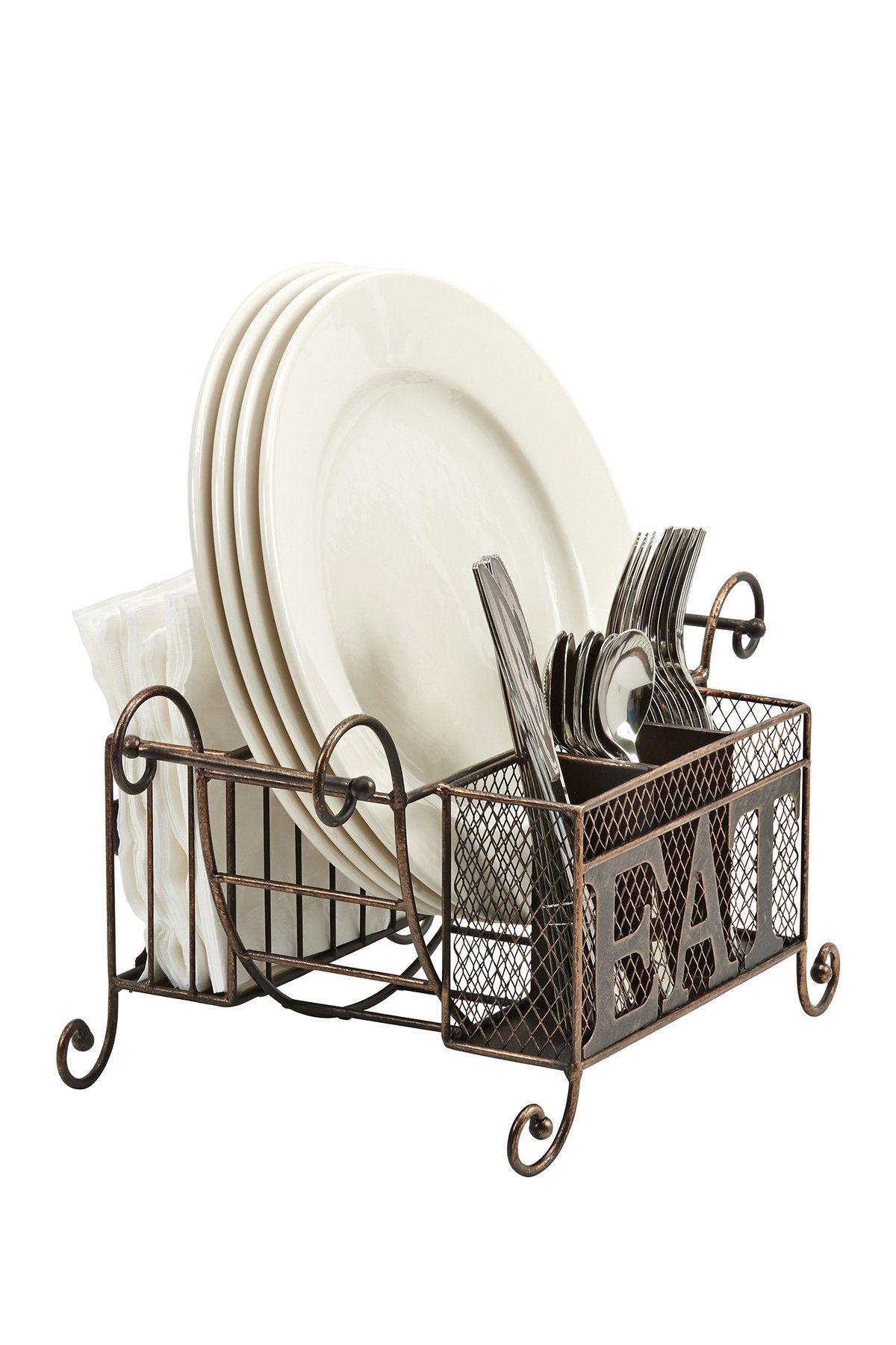 Flatware, Napkin & Plate Buffet Caddy by Boston Warehouse on ...
