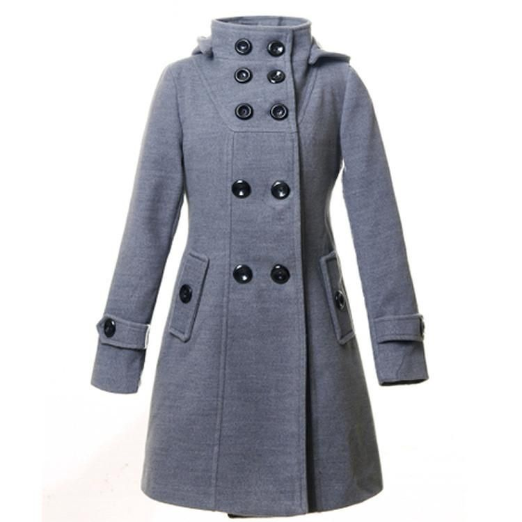 Double Breasted Coat in Gray