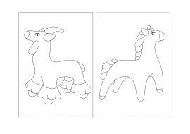 Дымковская игрушка раскраска | Раскраски, Игрушки, Лэпбуки