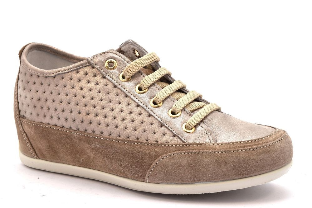 70d5bf0d1e IGI & CO 1159522 VISONE Beige Zeppa Sneakers Stringata Scarpe Pelle Donna  Estive