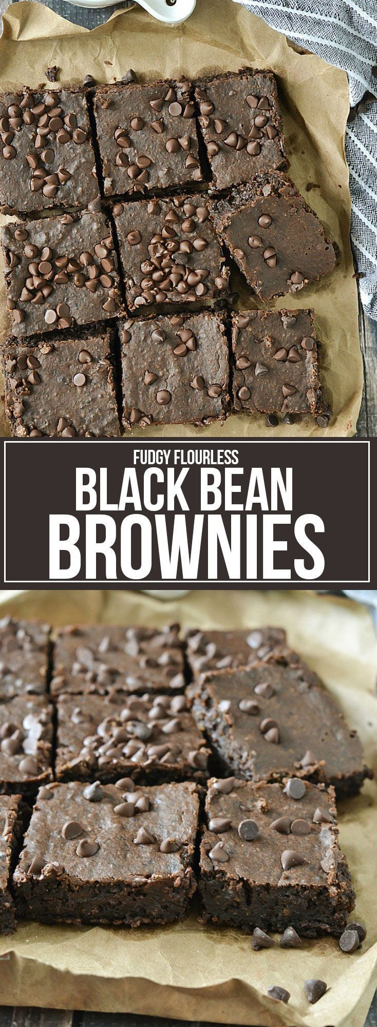 Fudgy Flourless Black Bean Brownies  The post Fudgy Flourless Black Bean Brownie…