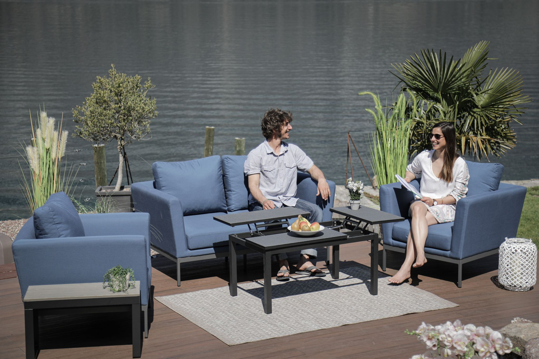 Galaxy Sunbrella Lounge Set Bluestorm Kaufen Viplounge Lounge Mobel Gartenmobel Outdoor Lounge