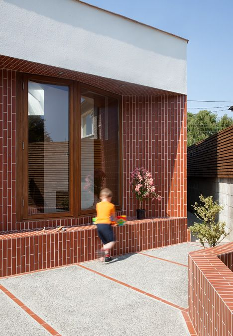 Brick House Addition In Dublin: Modern Brick House, Brick Architecture, House