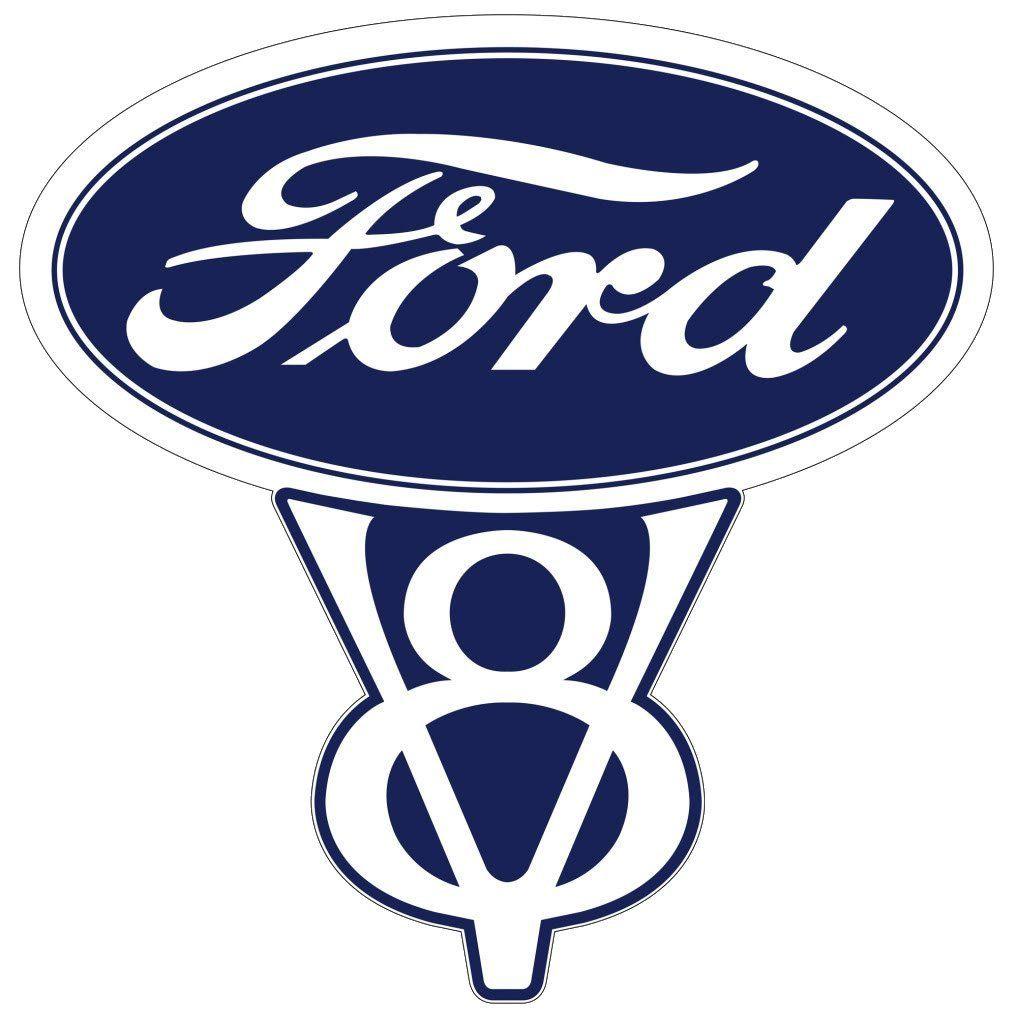 Vintage Ford V8 Decal In 2020 Ford Emblem Ford Motor Ford