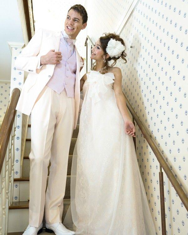 【二次会ドレスのオンラインレンタルショップ】お店に行かなくても、日本全国宅配でお届けします♪ 二次会ドレスとタキシードをペアでお得にレンタル! IND-04035-28 BJ & MCM-10768 PK