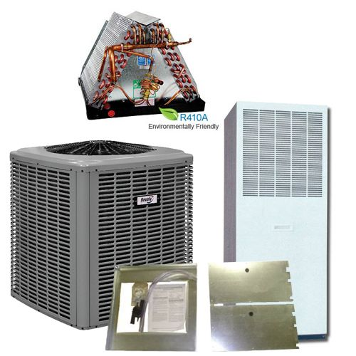 Revolv 2 5 Ton 14 5 Seer Complete Split System Heat Pump For Modular Home Quick Connect Heating And Air Conditioning Air Heating Central Air Conditioning
