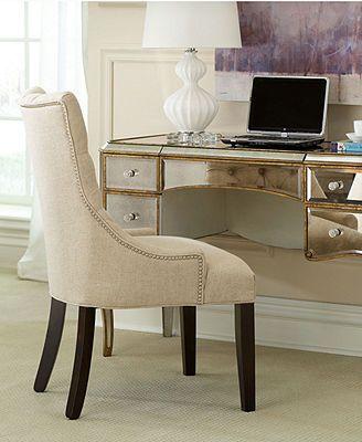 Monique Home Office Desk, Cabriole Mirrored Writing Desk Macys