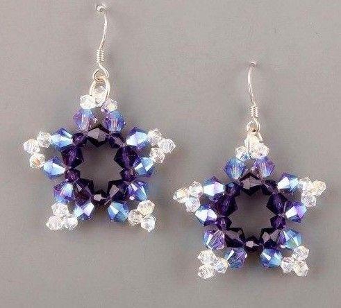 Diy Beads Star Earrings Fabdiy Beaded Earrings Patterns