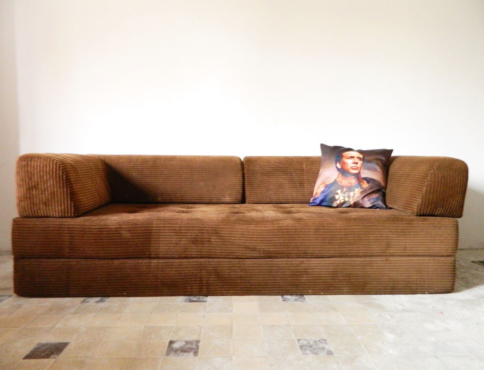 70er Sofa Couch Daybed Schlafsofa Cord Kult Einrichtung Couch
