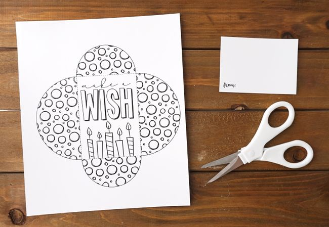 Printable Color Your Own Gift Card Holder Free Stuff Pinterest
