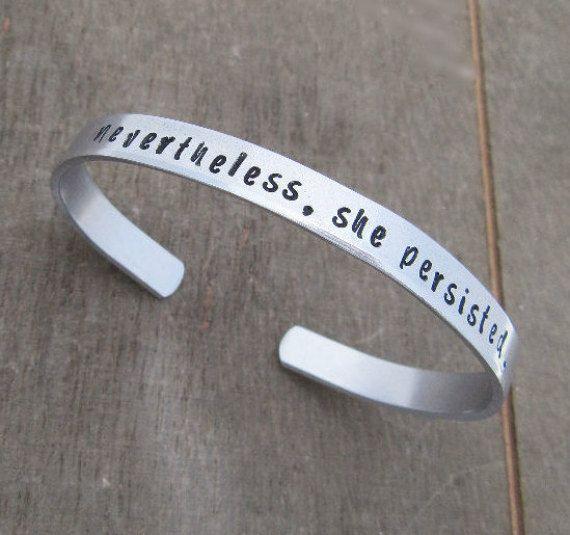 Nevertheless She Persisted Bracelet Elizabeth Warren Jewelry Let