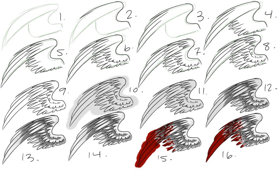How I Draw Wings Wings Drawing Angel Drawing Wings Sketch