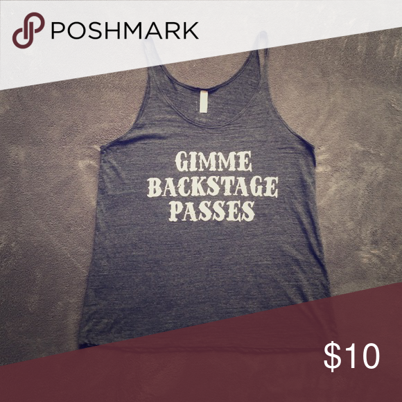 Concert tank Got a concert coming up?  This is perfect!  Later it for fall/winter. Tops