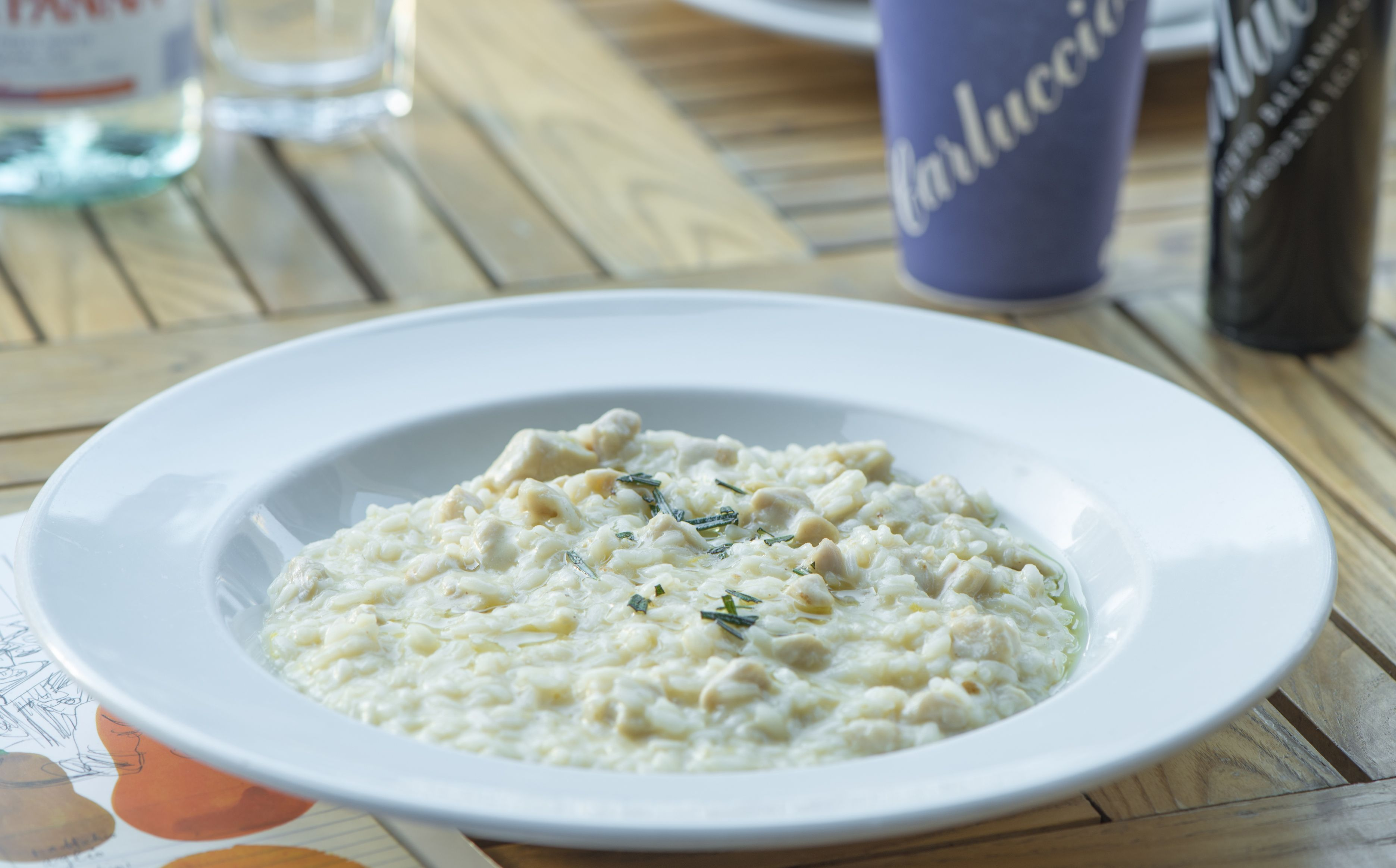CARLUCCIO'S - Risotto al limone con pollo - Chicken and lemon risotto  Want a taste? Sample incredible food from the best chefs in the world at Taste of Dubai. Follow us on Facebook for more details www.facebook.com/...