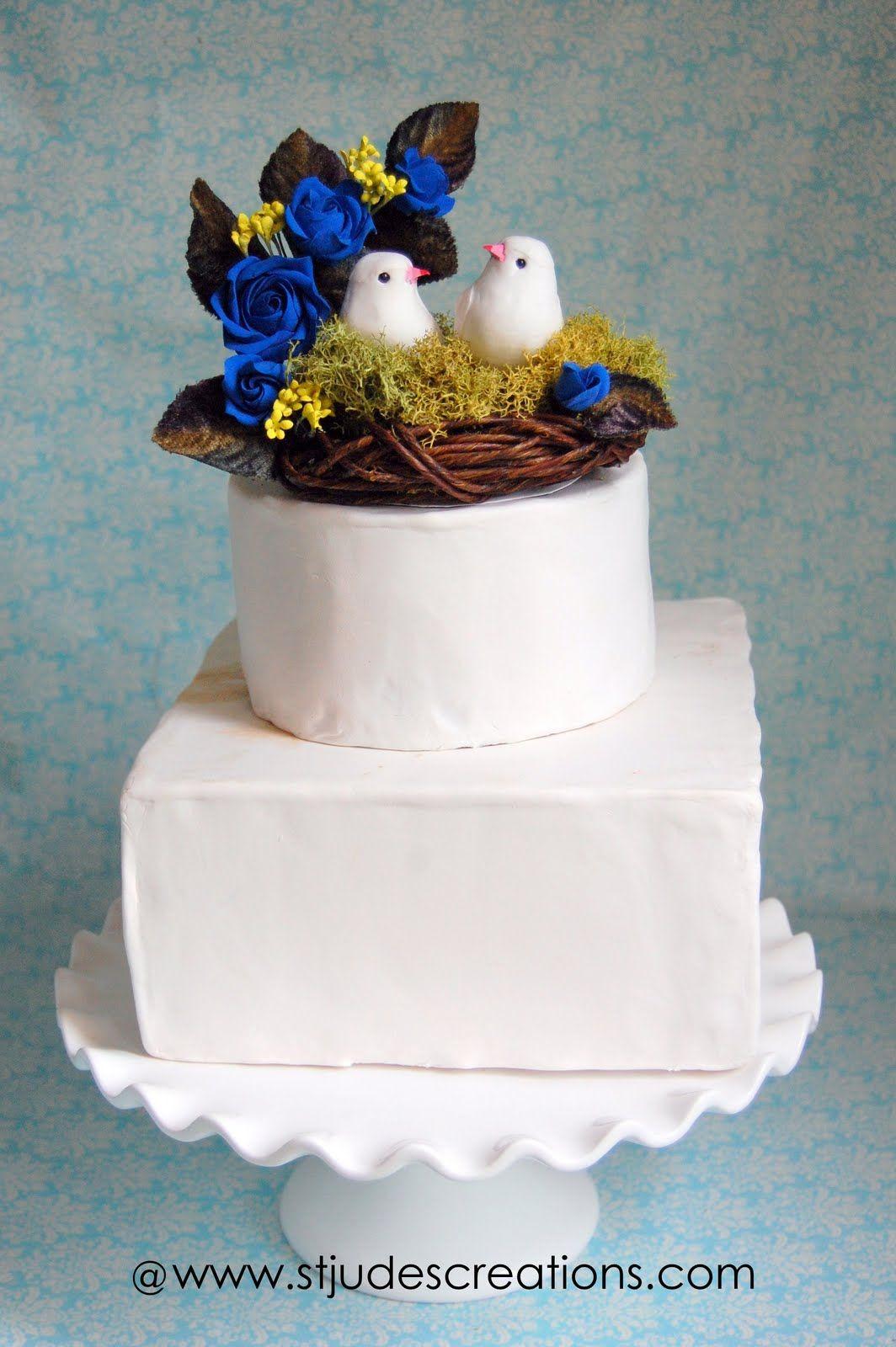 royal blue wedding cake - Bing Images | Wedding Planning Ideas for ...