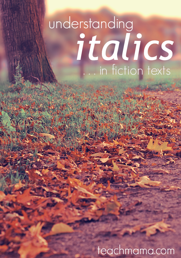 understanding italics in fiction text features and meaning reading activities pinterest. Black Bedroom Furniture Sets. Home Design Ideas