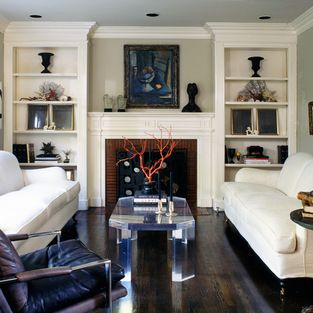 White Fireplace Surround With Built-ins Design Ideas, Pictures, Remodel and Decor