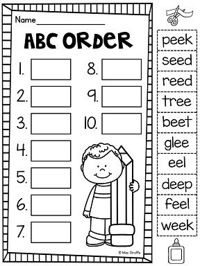 Free Printable Abc Order Worksheets For First Grade
