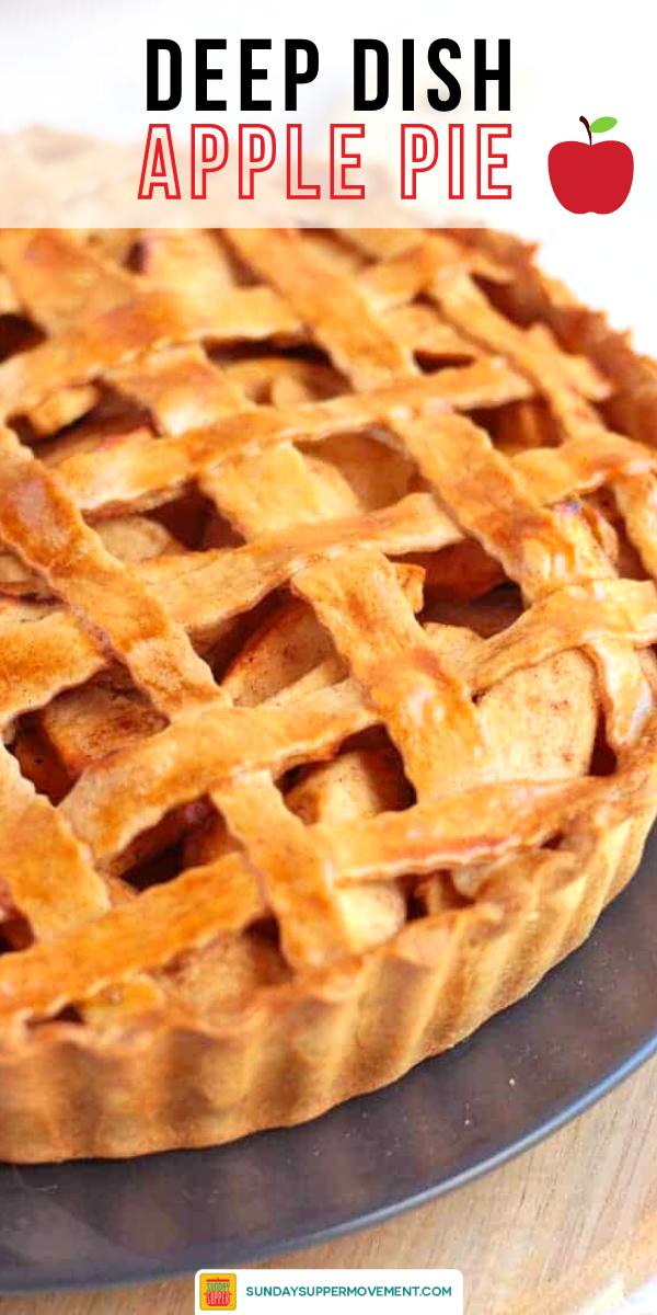 Deep Dish Apple Pie Sundaysupper Recipe Deep Dish Apple Pie Apple Pie Recipe Easy Apple Pie