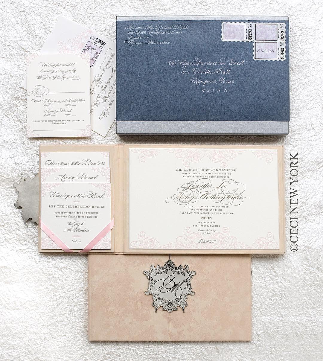Still crushing on this hand made blush velvet gatefold #invitation ...