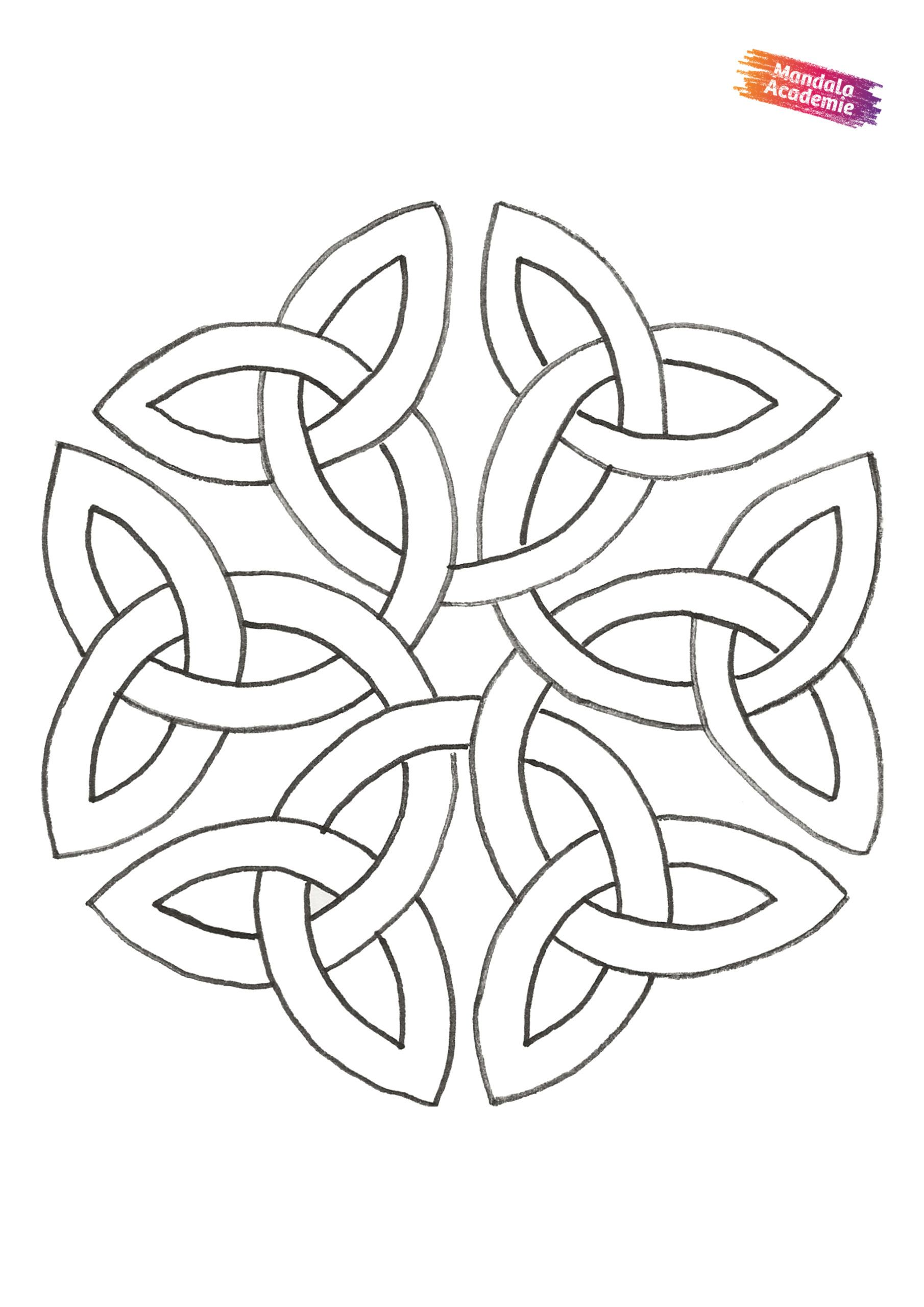 Kleurplaat April 2020 A4 Mandala Kleurplaten Kleurplaten Keltische Symbolen