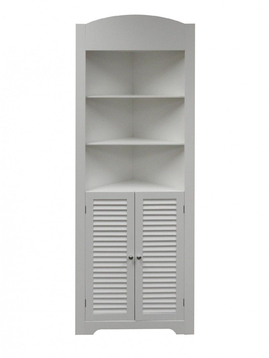 Tall Corner Unit Bathroom Shelving And Storage Design Decorative