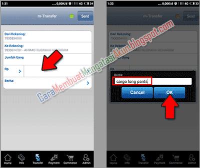 Bca Mobile Cara Transfer Uang Lewat Hp Bank Bca Ke Bca Ikuti Tahap Masukkan No Rekening Tujuan Ke Proses Kirim Uang Berserta Gambar M Pengikut Gambar Tujuan
