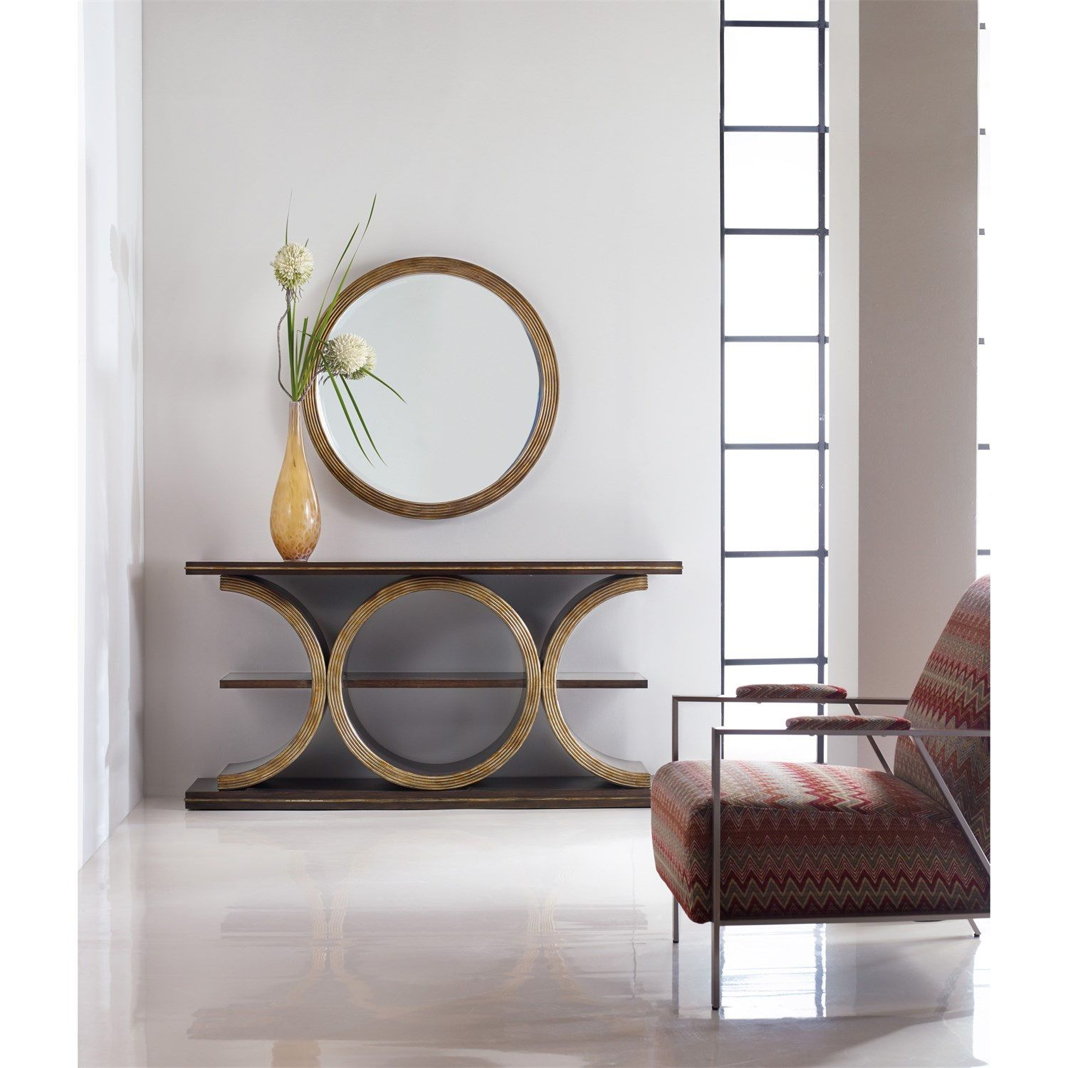 Merveilleux Hooker Furniture 638 50263 Melange Presidio Console Table And Mirror