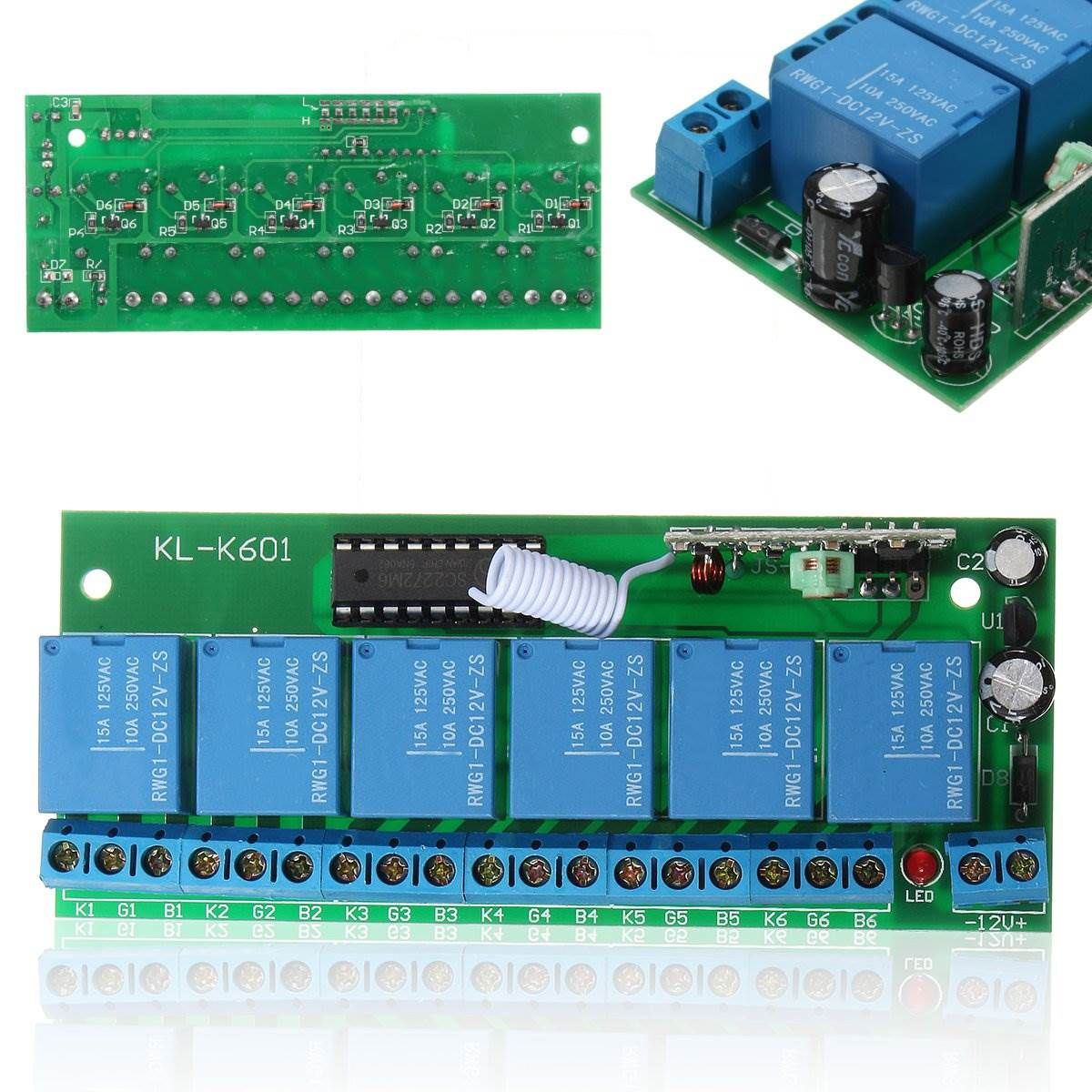 1pc Dc12v Relay 6 Ch Wireless Rf Remote Control Switch Heterodyne Component Circuit What Do I Need Receiver 315mhz High Power Module Board Affiliate