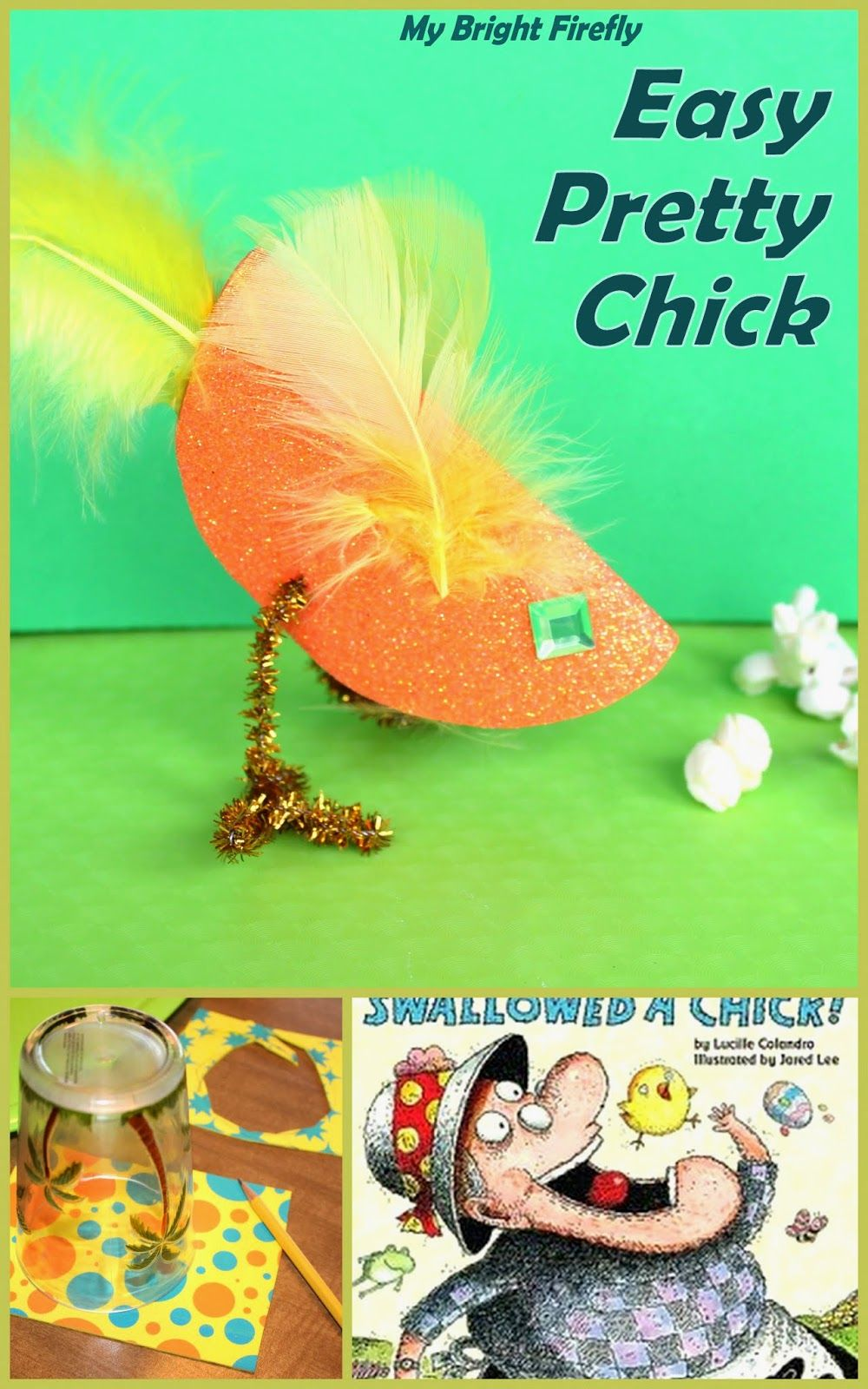 Easy Foam Chick Craft for Preschoolers | Craft, Scissor practice and ...