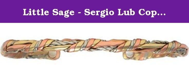 Sergio Lub Sage Bundle Solid Copper Cuff Bracelet Non-Magnetic