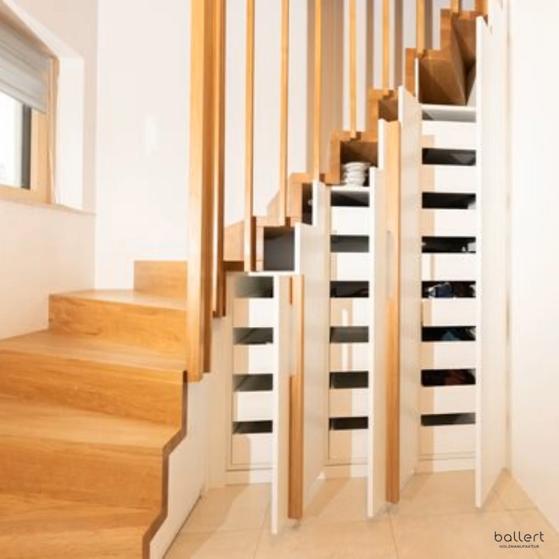 Photo of Staircase with integrated wardrobe / shoe cabinet
