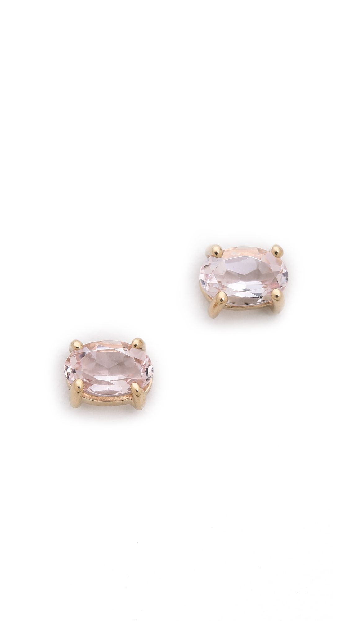 morganite pin earrings rose gold stud