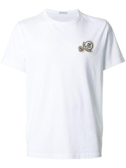 1441ad3b604e MONCLER Double Logo Plaque T-Shirt.  moncler  cloth  t-shirt ...