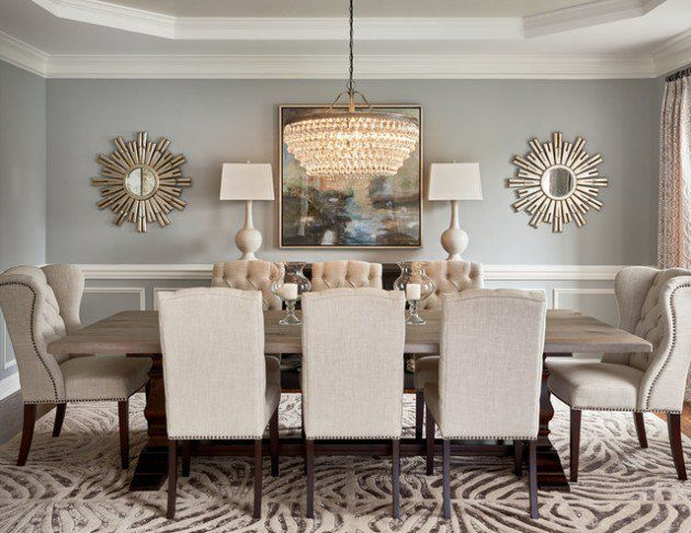 18 Marvelous Dining Room Designs To Serve You As Inspiration Transitional Style Dining Room Dining Room Colors Elegant Dining Room