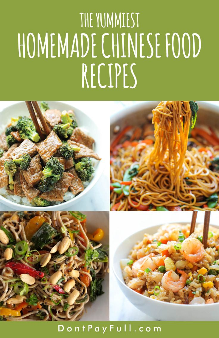 Homemade Chinese Food Recipes You Can Make On A Budget Homemade Chinese Food Easy Chinese Recipes Cooking On A Budget