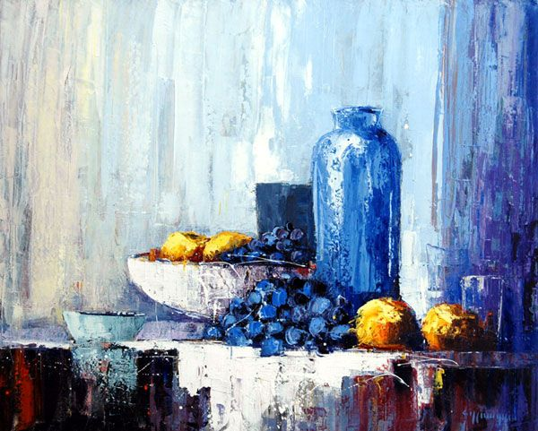 Photos peinture nature morte contemporaine peinture for Peinture contemporaine