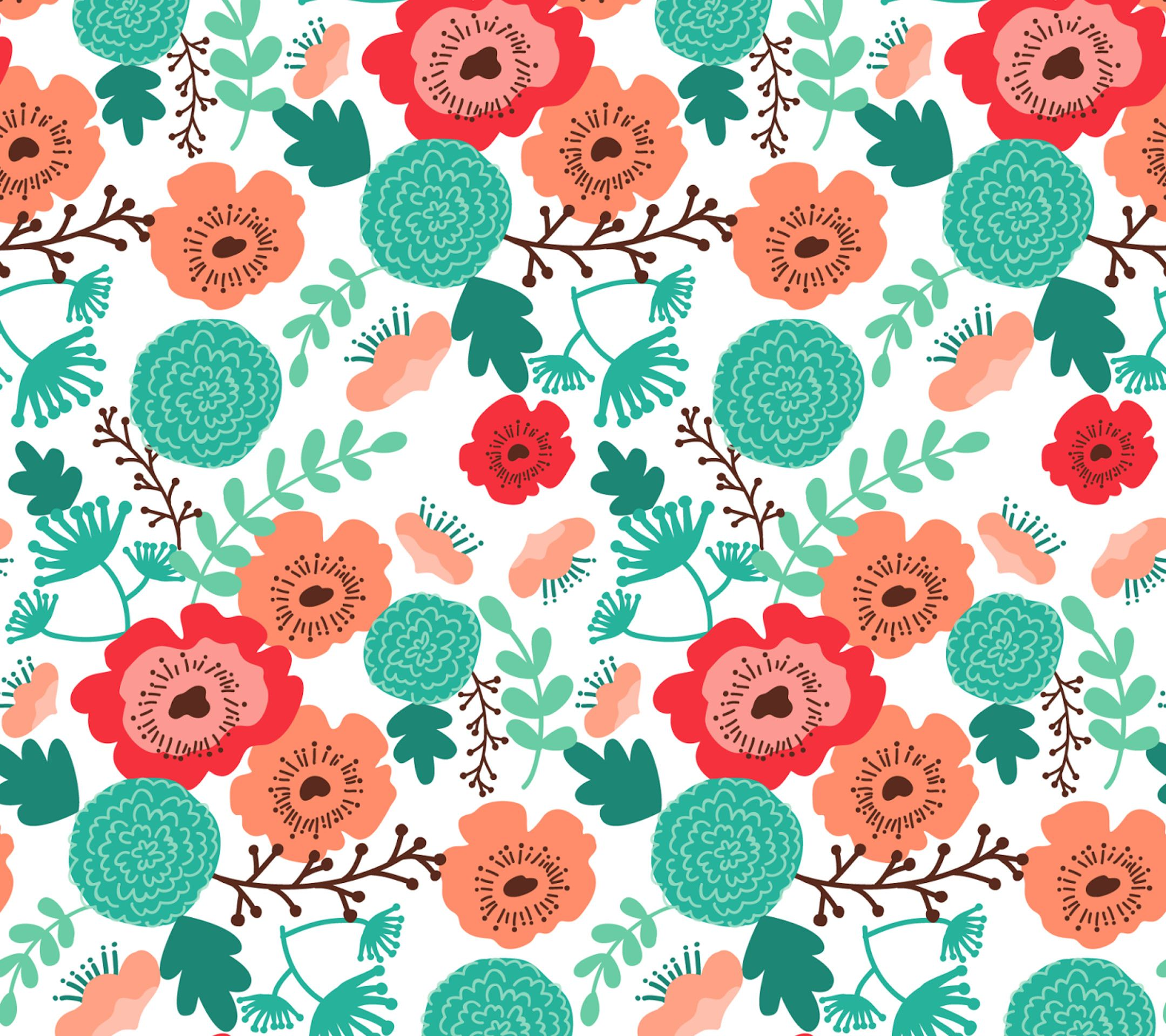 Floral Pattern Tap To See More Beautiful Flowery Patterend Abstract Wallpapers Mobile9 スマホ壁紙 壁紙 花柄