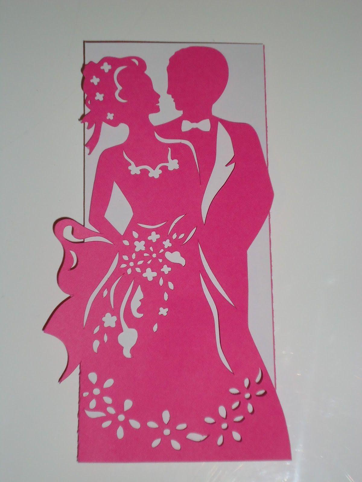 Телефон, открытка на свадьбу вытынанка