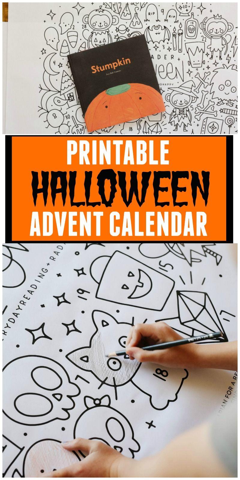 A Halloween Advent Calendar Halloween Advent Halloween Calendar Halloween Advent Calendar [ 1600 x 800 Pixel ]
