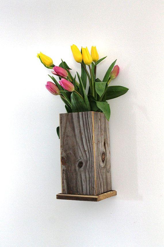 Distressed Flower Vase Box Reclaimed Wood by thesummeryumbrella, $20.00