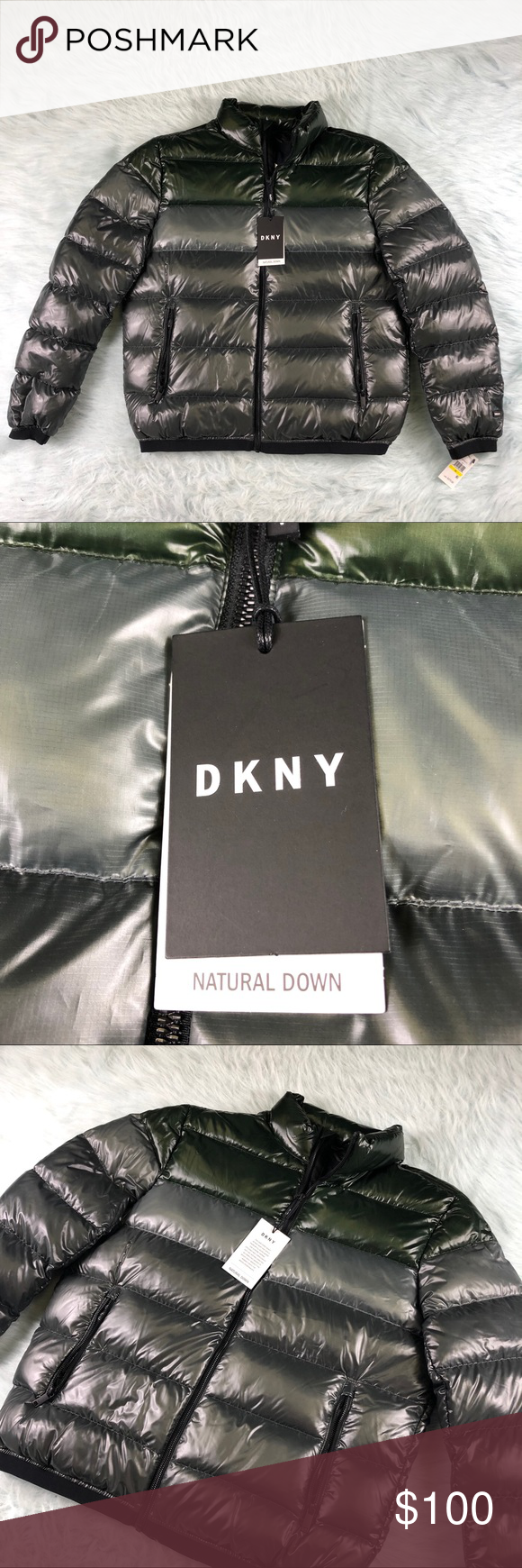Dkny Natural Down Puffer Jacket Men S Silver Green Puffer Jacket Men Dkny Mens Jackets [ 1740 x 580 Pixel ]
