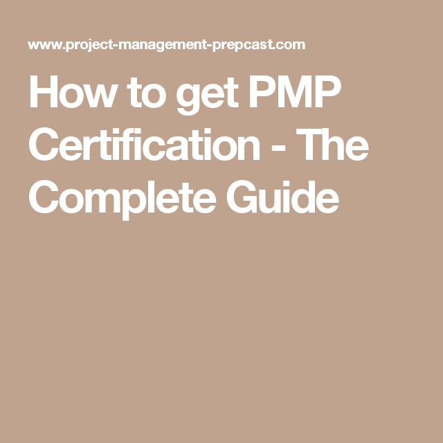 How To Get Pmp Certification The Complete Guide Performance