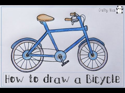 how to draw a bicycle bike easy drawing tutorial for kids